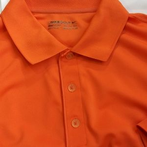 Nike Golf Fit Dry Orange Summer Polo 2XL EUC